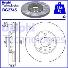 Brake Discs Front 288x25mm (Priced Per Pair)